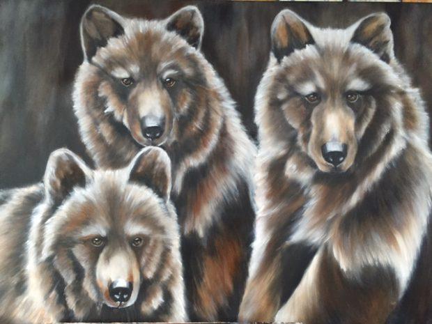 Bruine beren, 80 x 160cm
