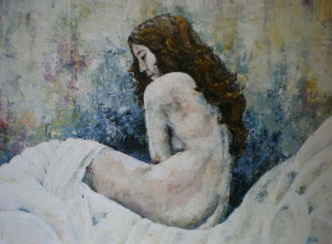 Blue nude, 70 x 90 cm