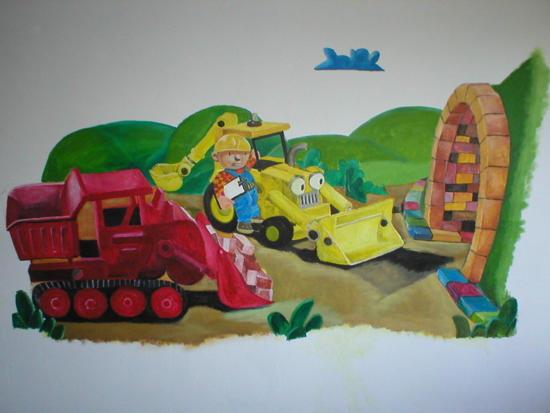 Muurschildering Bob