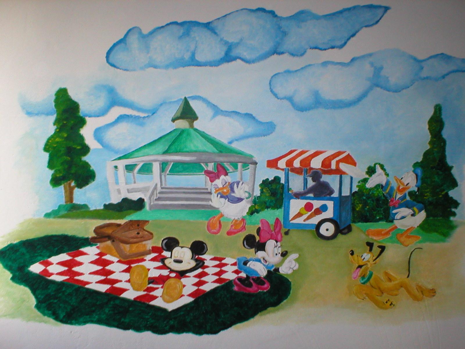 Muurschildering Disney